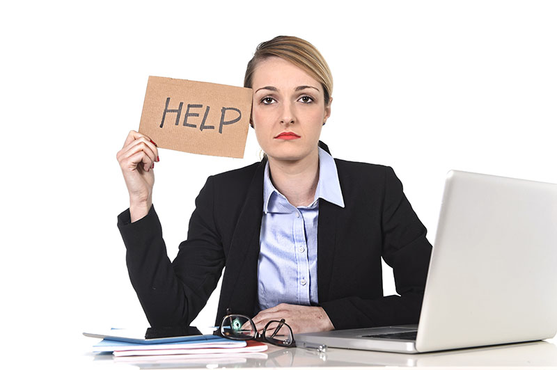 Office Employee Struggling with Mental Health and Behavioral Health issues needing an Employee Assistance Program